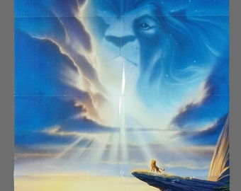1994 Lion King One-Sheet Movie Poster Vintage 27 x 40