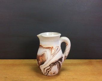 Indian Pottery Vase / Autumnal Tones Nate American Pitcher / Nemadji like Pottery