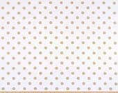 NEW Polka Dot White Athena Gold shown, Curtains, Window Treatments 24W or 50W x 63, 84, 90, 96 or 108L ⋘ Choose from 100s of Fabrics