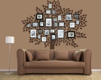 Elegant Tree Wall Decal, Family Tree Wall Decal Sticker   Living Room Wall Decals    Wall Part 5