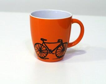 Cycling coffee mug Bicycle mug - bike mug - bike art coffee mugs - cycling gift idea cycle mug - cyclist mug bike coffee mug - tea mug