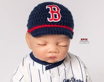 Boston Red Sox Baseball Hat for newborn baby boy or girl - preemie sizes available