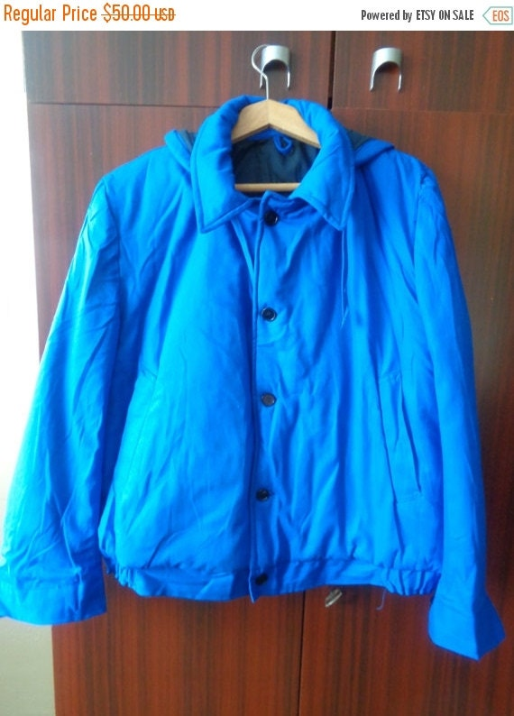 on sale vintage 1980s blue work clothes winter by