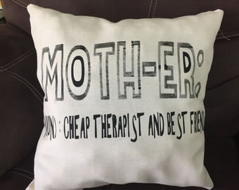 Mother decorative pillow cover