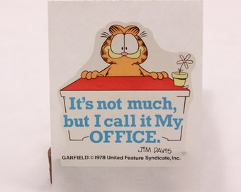 4 Vintage 1978 United Features Garfield Collection of 5 Different Stickers. Sealed in Sleeve
