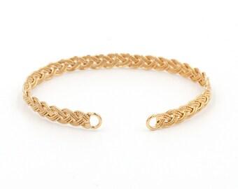 Friendship Cuff - Gold Fill - Braided Cuff - Statement Bracelet - Statement Cuff - Delicate Bracelet