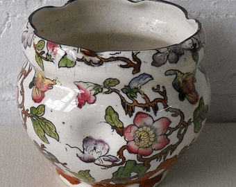 Vintage Pratts Cavendish Ceramic Pottery Vase England Flower Vase Planter
