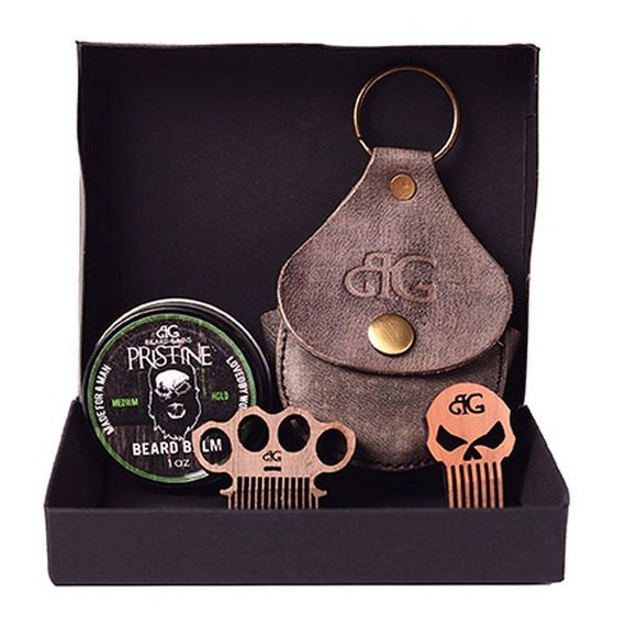 beard balm key chain kit w custom mini comb. Black Bedroom Furniture Sets. Home Design Ideas