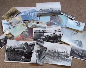 Steam Train (Locomotive) Photo/postcard/picture bundle (16 items)