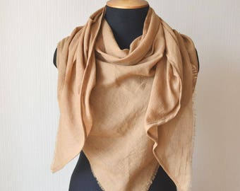 women scarf gift for wife fashion scarf mothers day gift cotton scarf summer scarf shawl wrap beach scarf mustard scarf gift for girlfriend