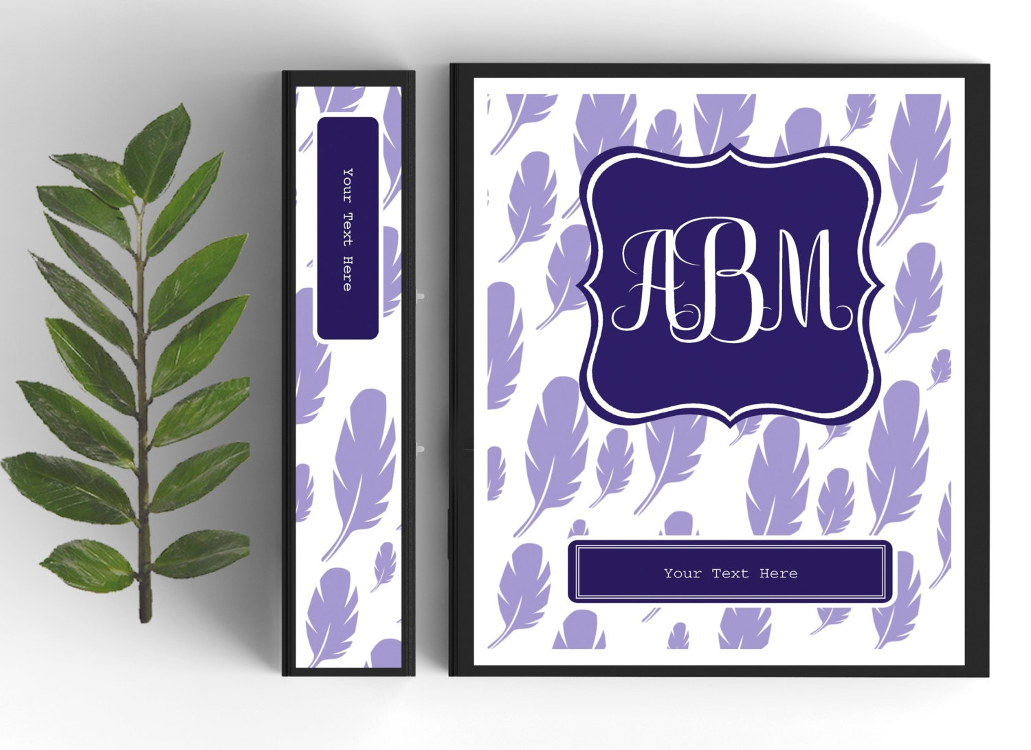 monogram binder cover