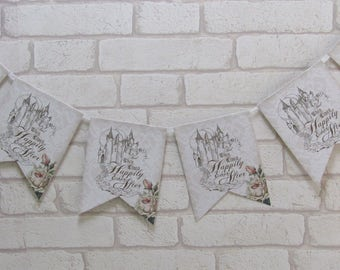 Happily Ever After Princess Castle Bunting Banner Garland Party,Wedding,Decoration Fairytale
