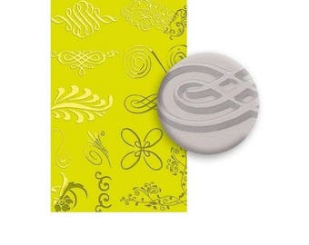 Arabesque texture plate to paste FIMO SCULPEY CERNIT - Arabesque texture sheet for polymer clay