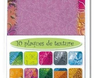 10 Lot 2 for paste fimo, sculpey, cernit Texture plates
