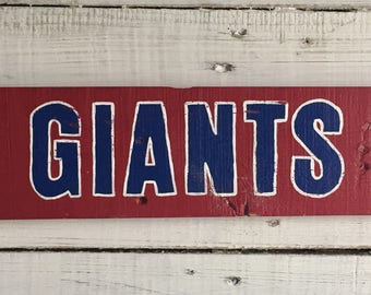 Hand Painted New York Giants Super Bowl XXI and XXV Endzone Replica