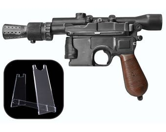 Star Wars Han Solo DL-44 Blaster - Screen Accurate Replica Prop with FREE STAND