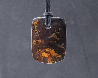 Washington Hematitic (hematite/metallic sheen) Jasper Pendant