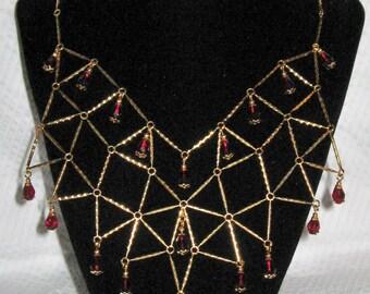 Geometric Bib Necklace