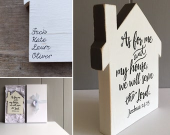 Personalised Handmade Wooden House with Free Gift Box