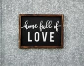 Home Full of Love | 17.5 x 13.5 | FREE SHIPPING