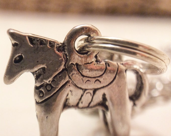 Swedish Dala Horse Necklace, Silver, Bronze, Dala, Sweden, Swedish, Tradition, Sverige, Svenska, Horse, TheSwedishFlicka