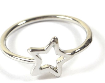Silver Plated Star Ring