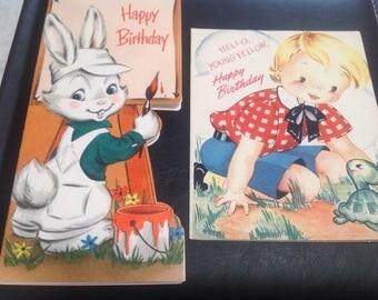 Vintage children's birthday cards
