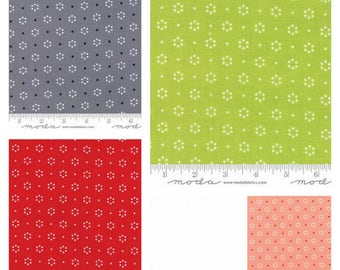 PRE ORDER Fat Quarter Bundle of The Good Life Floral Dots by Bonnie and Camille for Moda