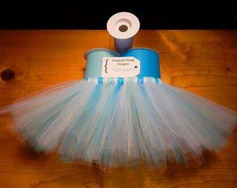 Snow Princess Custom Tutu - light blue, turquoise & white tulle pet tutu, dog tutu, dress up your pet, princess tutu, cute pet accessories