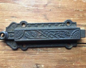 Eastlake Antique Door Latch Chain Pull Architectural Salvage
