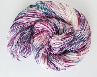 Purple People Eater, Hand Painted Indie Dyed Yarn