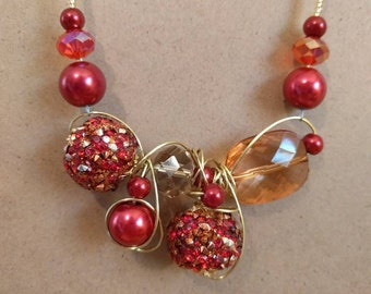 Red, fancy necklace