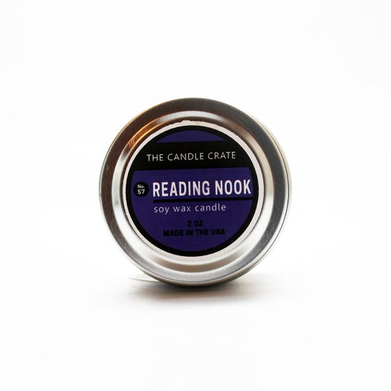 Reading Nook 2 Ounce scented soy wax candle tin by ...