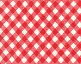 1 Yard Bonnie and Camille Basics by Moda -55124-31 Vintage Picnic Gingham Red