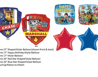 Paw Patrol Balloon Set