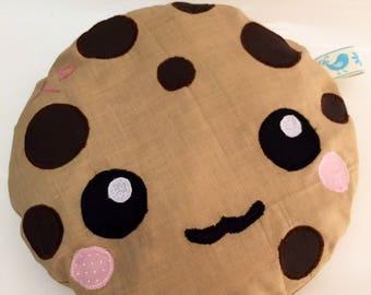 COOKIE choc chip Cushion with 2-letter initials embroidered