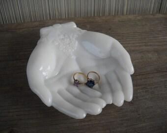 Avon Milkglass Giving Hands