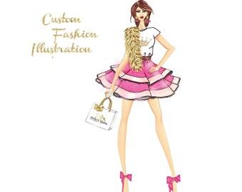Custom Business Illustration Custom illustration for logo Watercolor Logo Design
