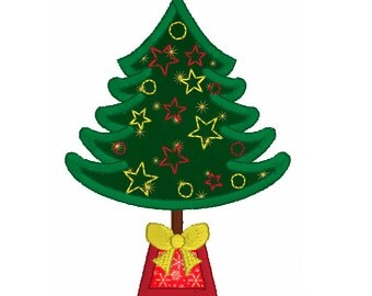 tree applique etsy - Christmas Tree Applique
