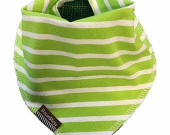 Baby bib stripes lime