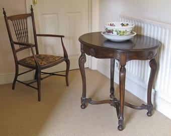Early 20thC Continental Stained Walnut Oval Occasional Table