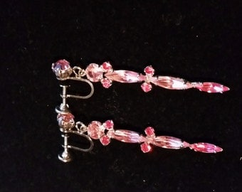 Discounted Unsigned Sherman Vintage Dangly Earrings