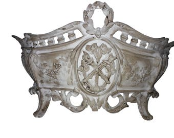 French Napoleon III Jardiniere Paris Apartment French Nordic Centerpiece Shabby Cottage French Country Jardiniere