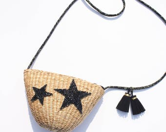 Star Straw Crossbody Bag