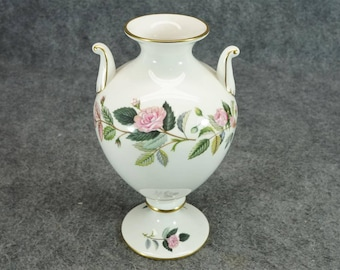 "Wedgwood Hathaway Rose 8"" Bone China Vase C. 1960S-70S"