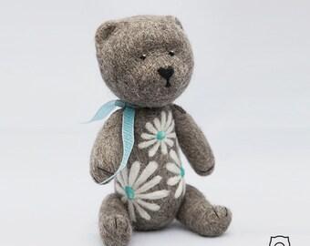 """Babu """"Chamomile"""". Needle felted. 100% wool. Nice gift."""