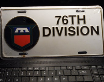 US Army 76 Division license plate