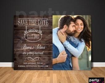 Vintage Save The Date, Rustic Save The Date, Photo Save The Date, Gothic Save The Date, Save The Date Postcard, Wood Invitation, STD33