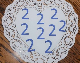 "Number 2 Die Cuts Confetti Embellishments: Blue (Primary Cardstock) (1.0"" x 1.72"")"