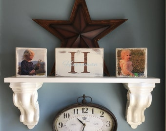 Family Photo Blocks & Sign. Custom name + photos, Great for weddings, Mother's Day, Father's day, Birthday gifts or any occasion. Home Decor